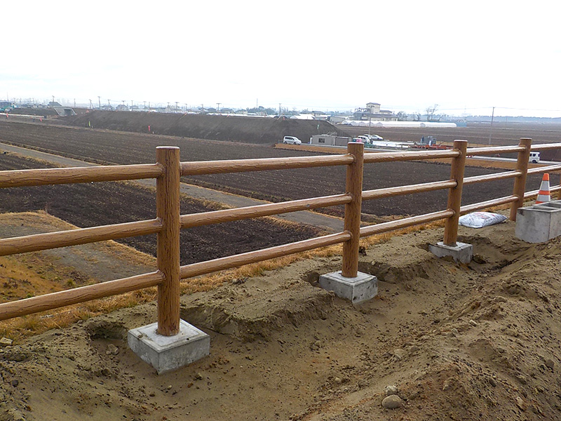 擬木柵設置工