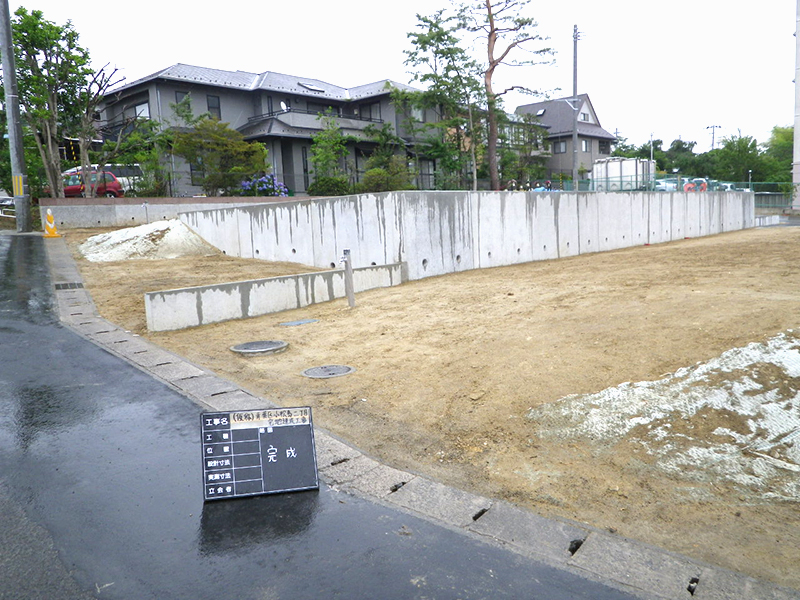青葉区小松島二丁目宅地造成工事
